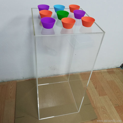Clear Square Acrylic Plinth Display Pedestal Acrylic Floor Standing