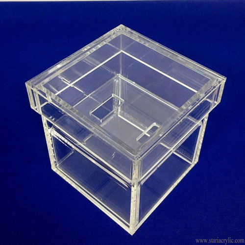 Customized Clear Acrylic Wedding Ring Box