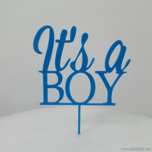 It's a Boy Baby Blue Acrylic Cake Toppers