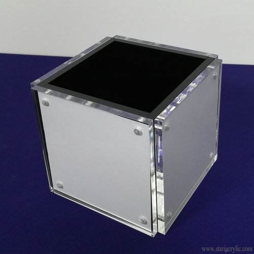 4 sided Acrylic Photo Cube Block Frame
