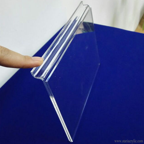 Clear Slatwall Acrylic Sign Holder