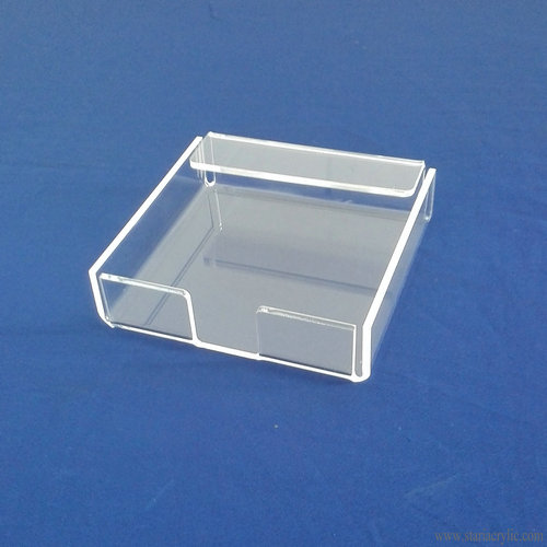Square Clear Acrylic Memo Pad Holder