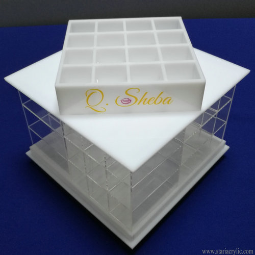 Acrylic Rotating Lipstick Holder Cosmetic Makeup Organizer Tower