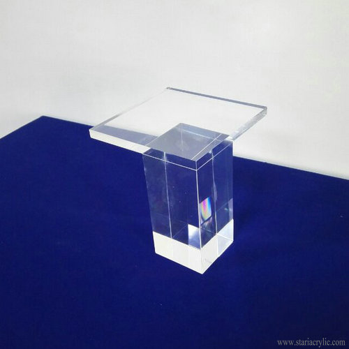 Clear Acrylic Bookcase Feet Footstool leg for Coffee Table