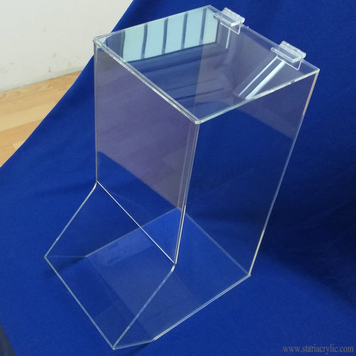 Wall Mount Single Compartment Clear Acrylic Finger Cot Dispenser