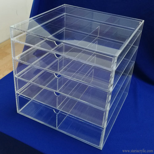 5 Tier Clear Acrylic Cosmetic Organizer and Jewelry Storage Display Case
