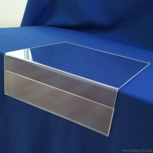 Clear Acrylic Shelf Talker Sign Holder
