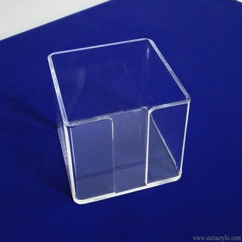 Clear Square Acrylic Memo Holder