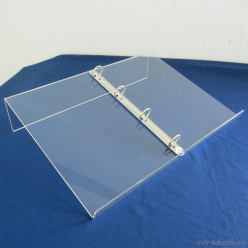 4 Ring Binder Acrylic Book Display Stand