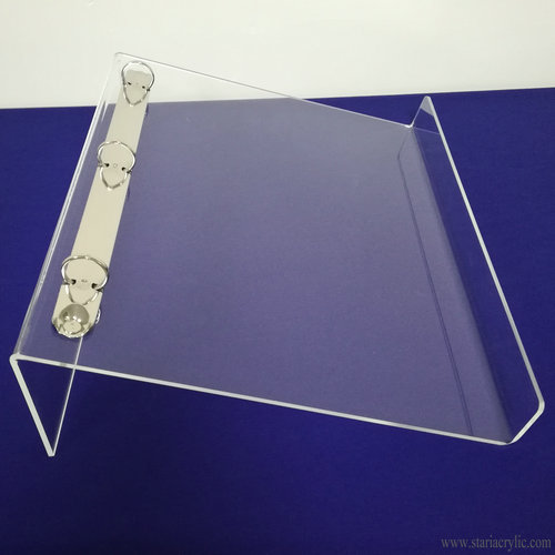 Acrylic Ring Binder Display Counter Stand