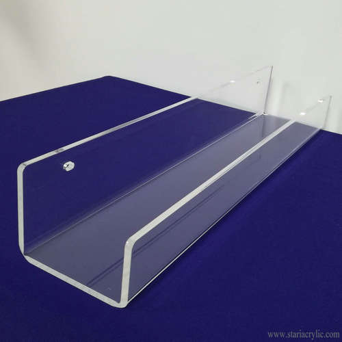Clear Acrylic Floating Wall Ledges Display Shelves Bookshelf