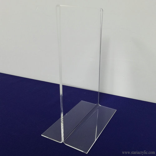 Acrylic T Shape Table Top Display Stand Sign Holder