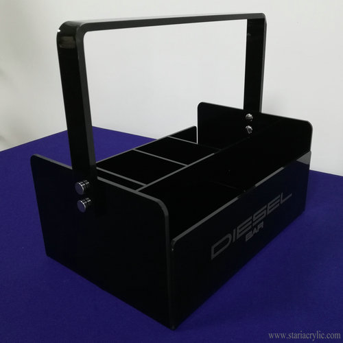 5-Section Black Acrylic Tote