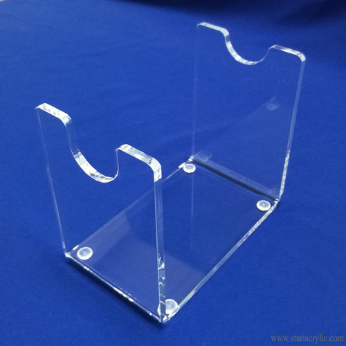Acrylic Pistol Revolver Display Stand Clear Model Showing