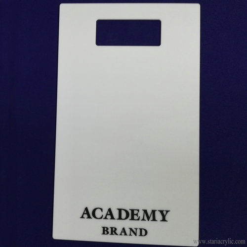 White Acrylic Shirt Folding Board with logo