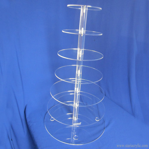 7 Tier Wedding Party Acrylic Round Cake Stand Dessert Stand