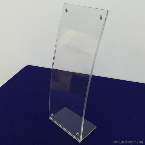 Curved Acrylic Ad Frame with Magnet Closure