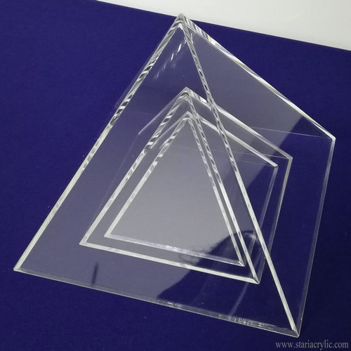 Clear Acrylic Pyramid Display Mold for Resin