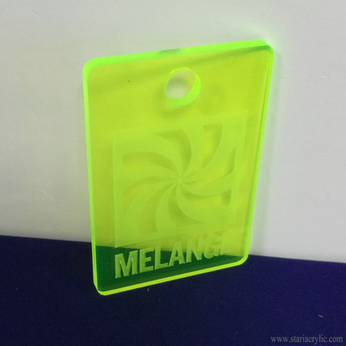 Neon Green Etched Acrylic Bag Tag Template