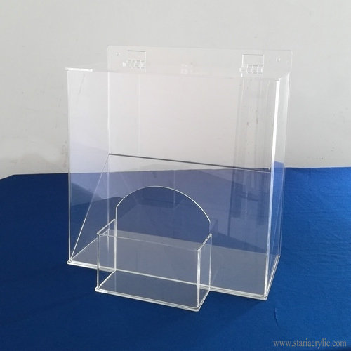 Clear Acrylic Safety PPE Dispenser Ear Plugs Holder