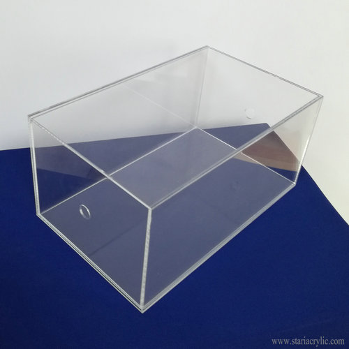 Luxury Clear Acrylic Shoe Box Lucite Shoe Storage Box with Thumb hole