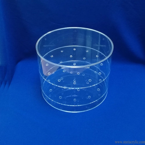 19 Hole Waterproof Round Acrylic Flower Box Rose Storage Container