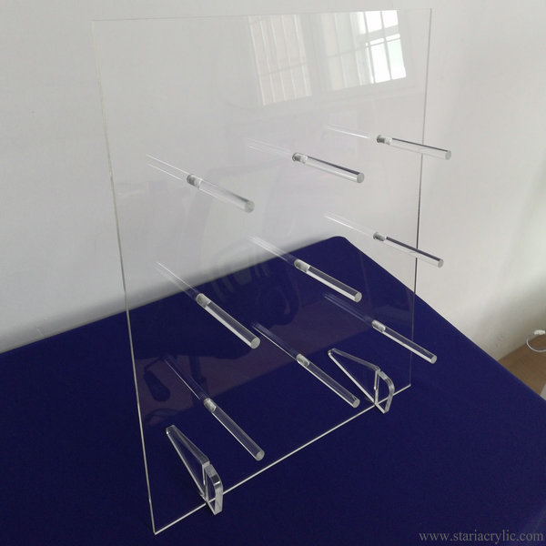 Clear Acrylic Donut Stand Table Donuts Rack Display with Feet
