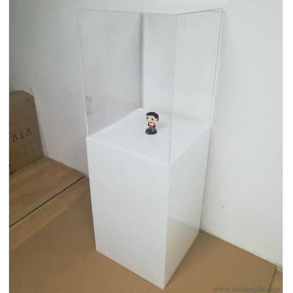 Museum Display Case White Acrylic Pedestal Plinth