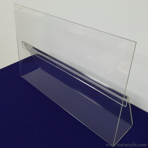 Clear Styrene Acrylic Cookbook Stand Tablet Holder with Splatter Guard