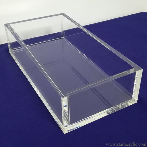 Clear Acrylic Guest Towel Napkin Holder Napkin Tray