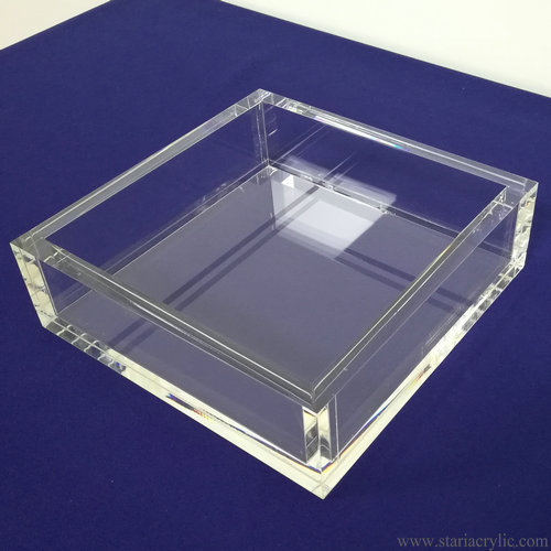 Crystal Clear Square Acrylic Cocktail Napkin Holder