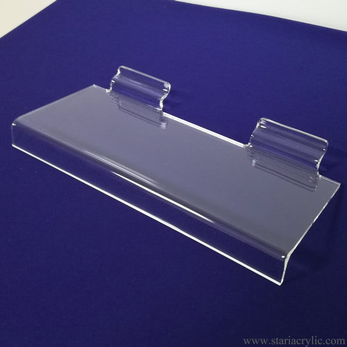 Clear Slatwall Acrylic Shoe Shelf